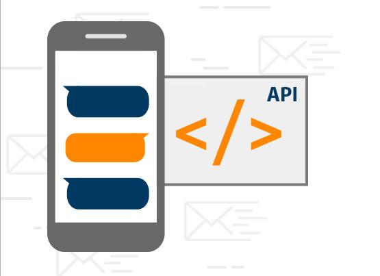 Dank unserer API kann Ihre Anwendung SMS versenden