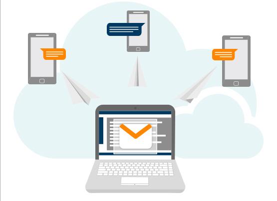 Versenden Sie SMS mit Ihrem Mailpro-Konto