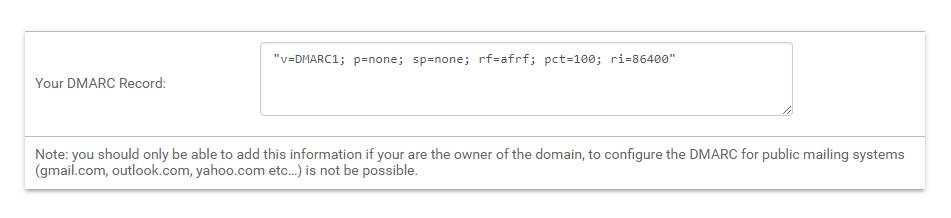 DMARC mit Mailpro konfigurieren
