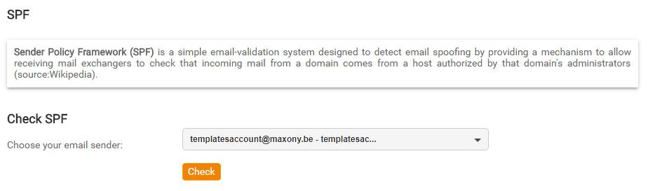 SPF Konfiguriert mit Mailpro