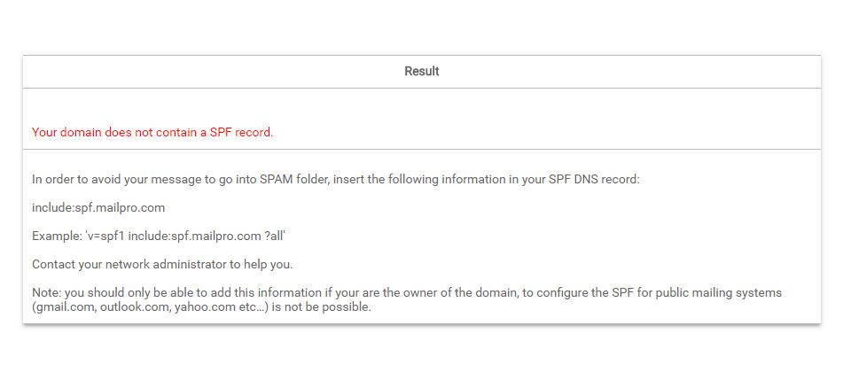 SPF von Mailpro